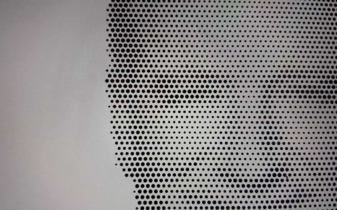 Halftone pattern engraving from photos