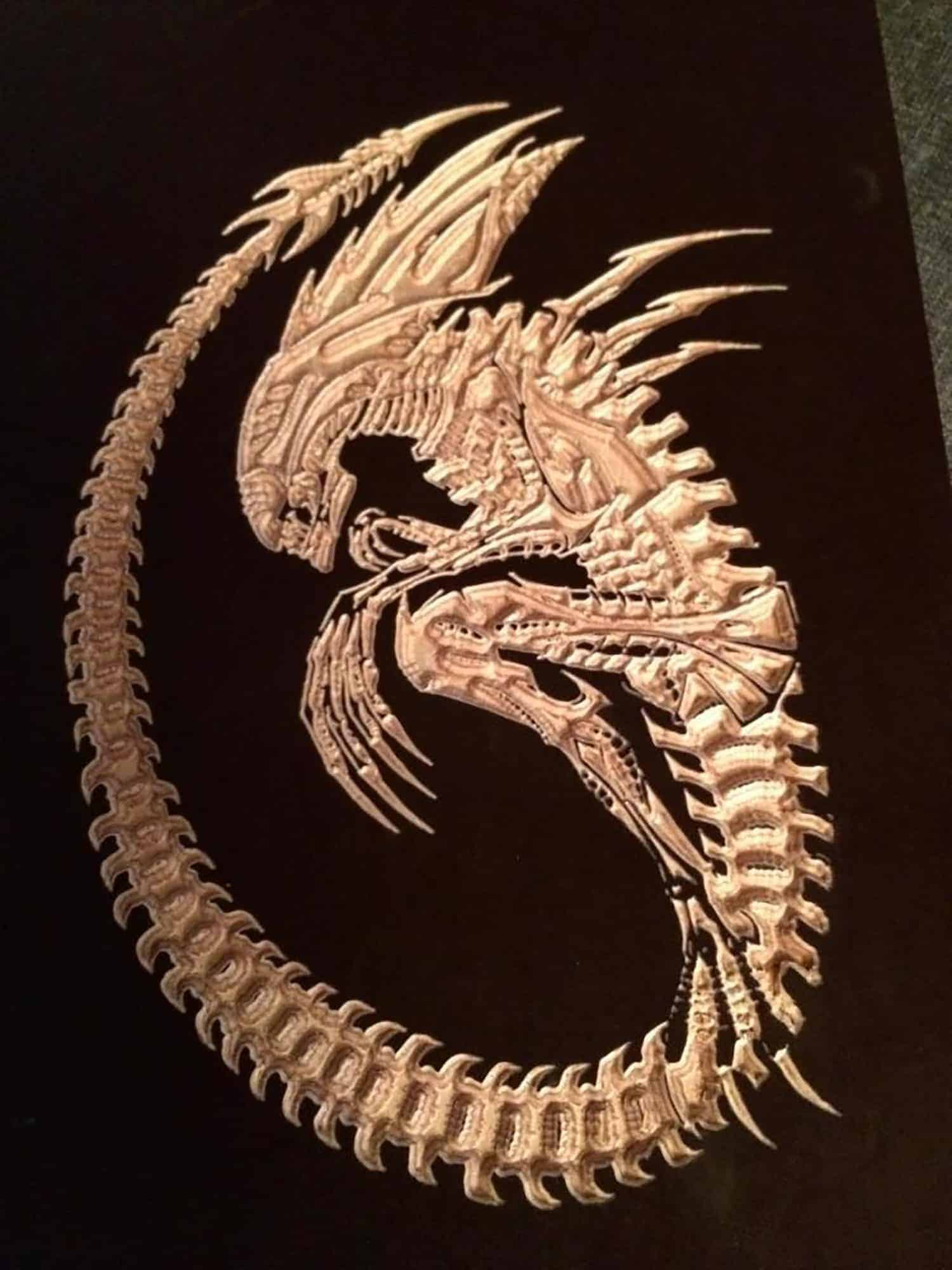Alien Facehugger Project Engraving Miy Makerspace